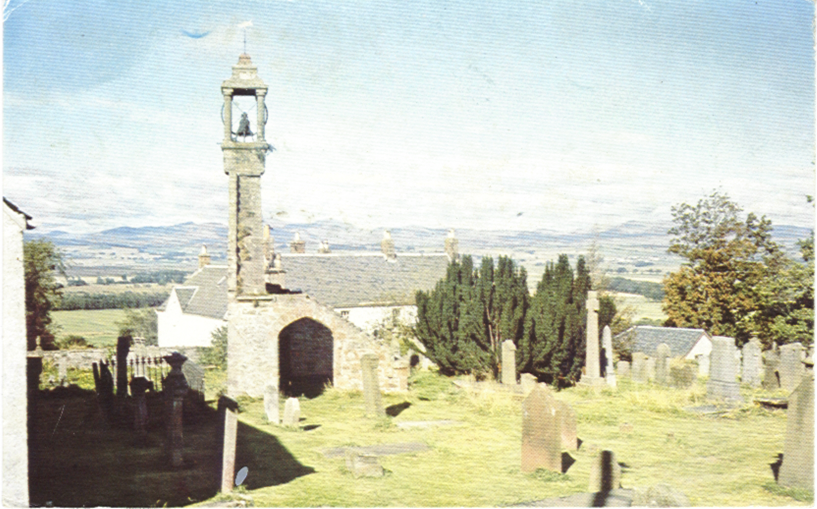Old Church and graveyard in Kippen Scotland