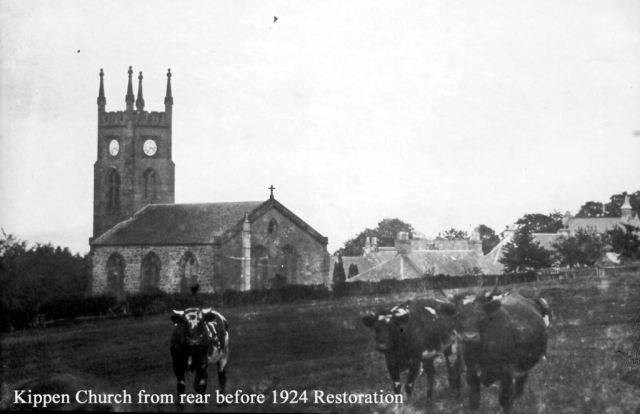 Kippen Church from rear before 1924 Extension